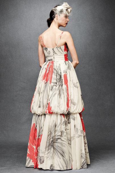 2ee631f7ea ... Ivory Print Zinnia Gown
