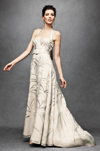 Parchment Trumpeted Pavot Gown | BHLDN