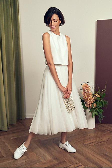 Jenny Yoo Ahna Top & Nouvelle Amsale Nandita Skirt