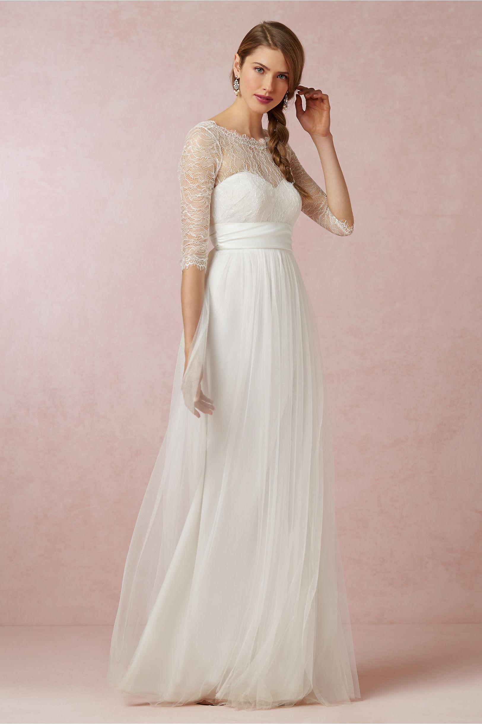 Annabelle Dress & Marnie Topper in Bride | BHLDN