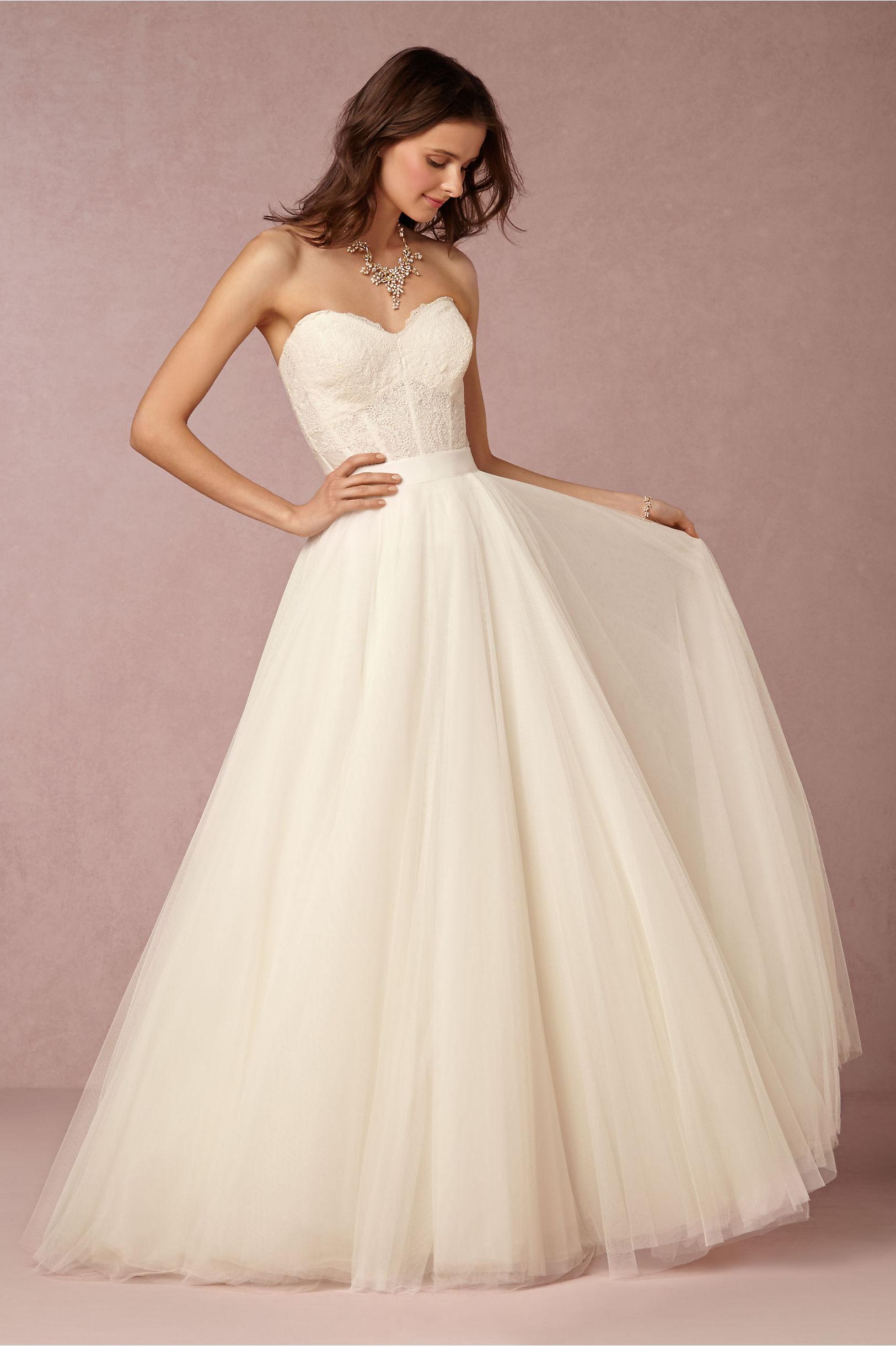Carina Corset & Ahsan Skirt in Bride | BHLDN