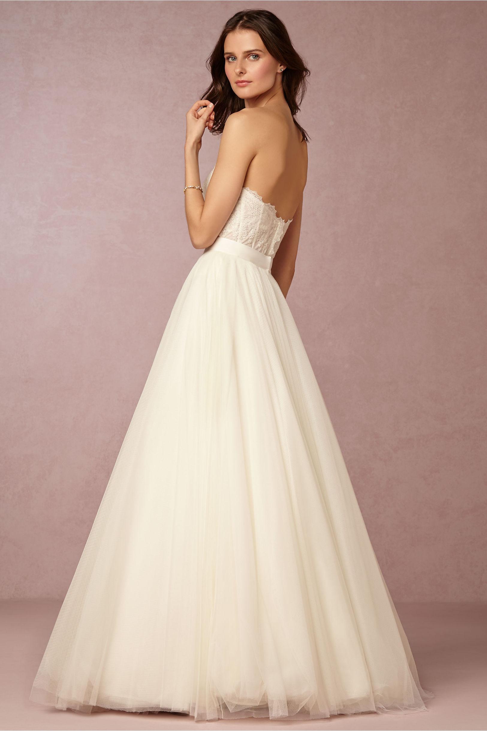 Carina Corset & Ahsan Skirt in Bride   BHLDN