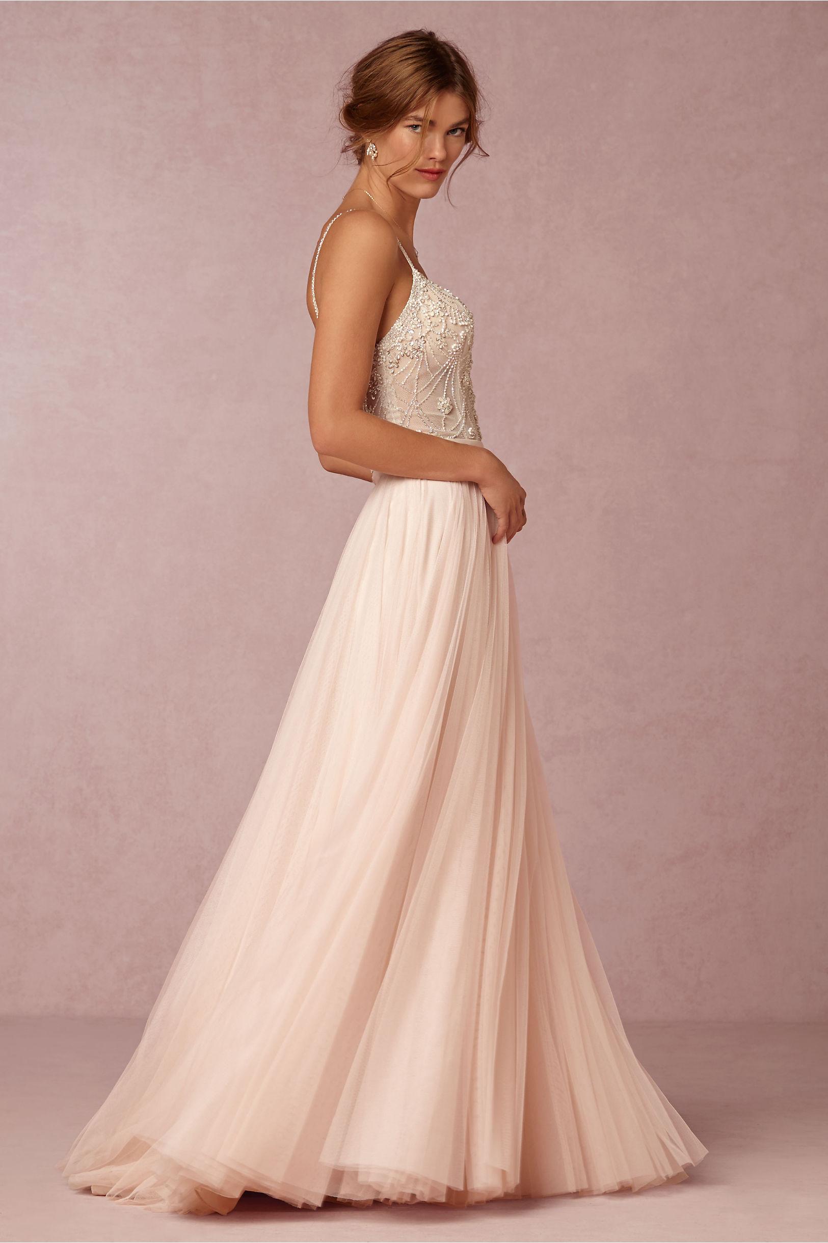 Ella Bodysuit & Amora Skirt in Bride | BHLDN