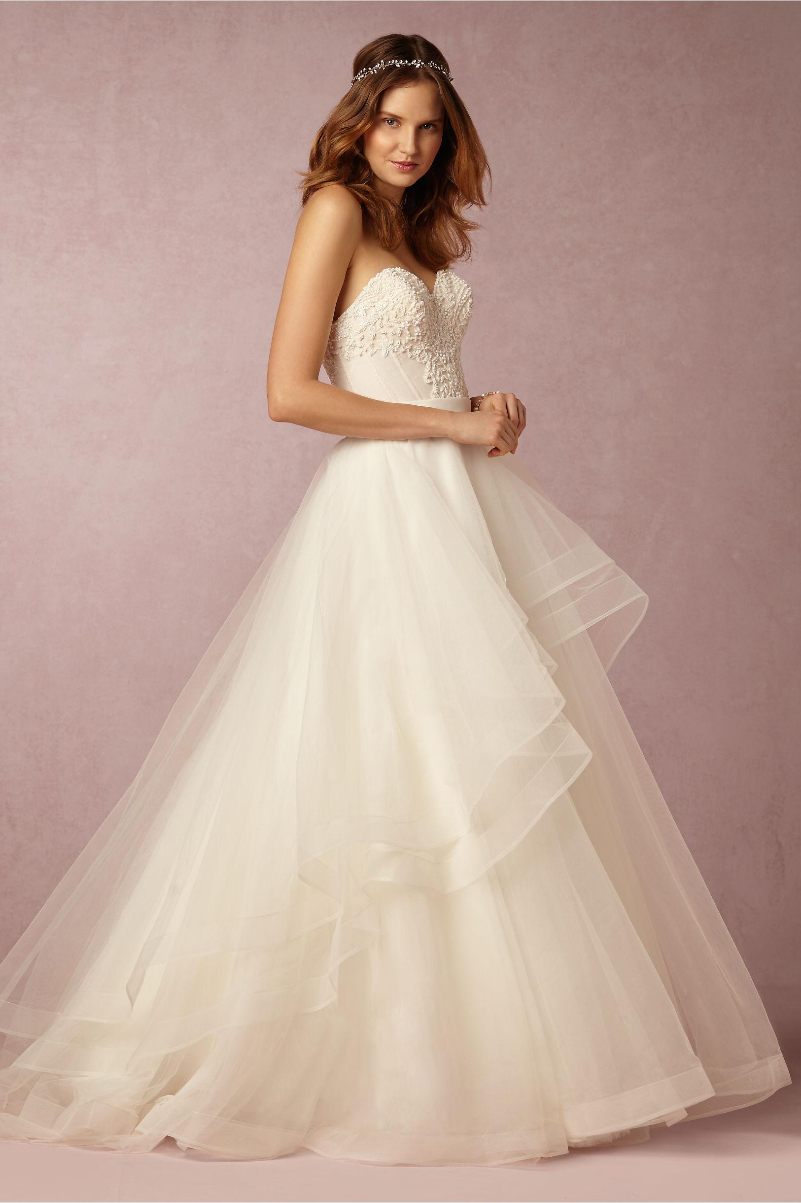 Tisha Corset & Almira Skirt in Bride   BHLDN