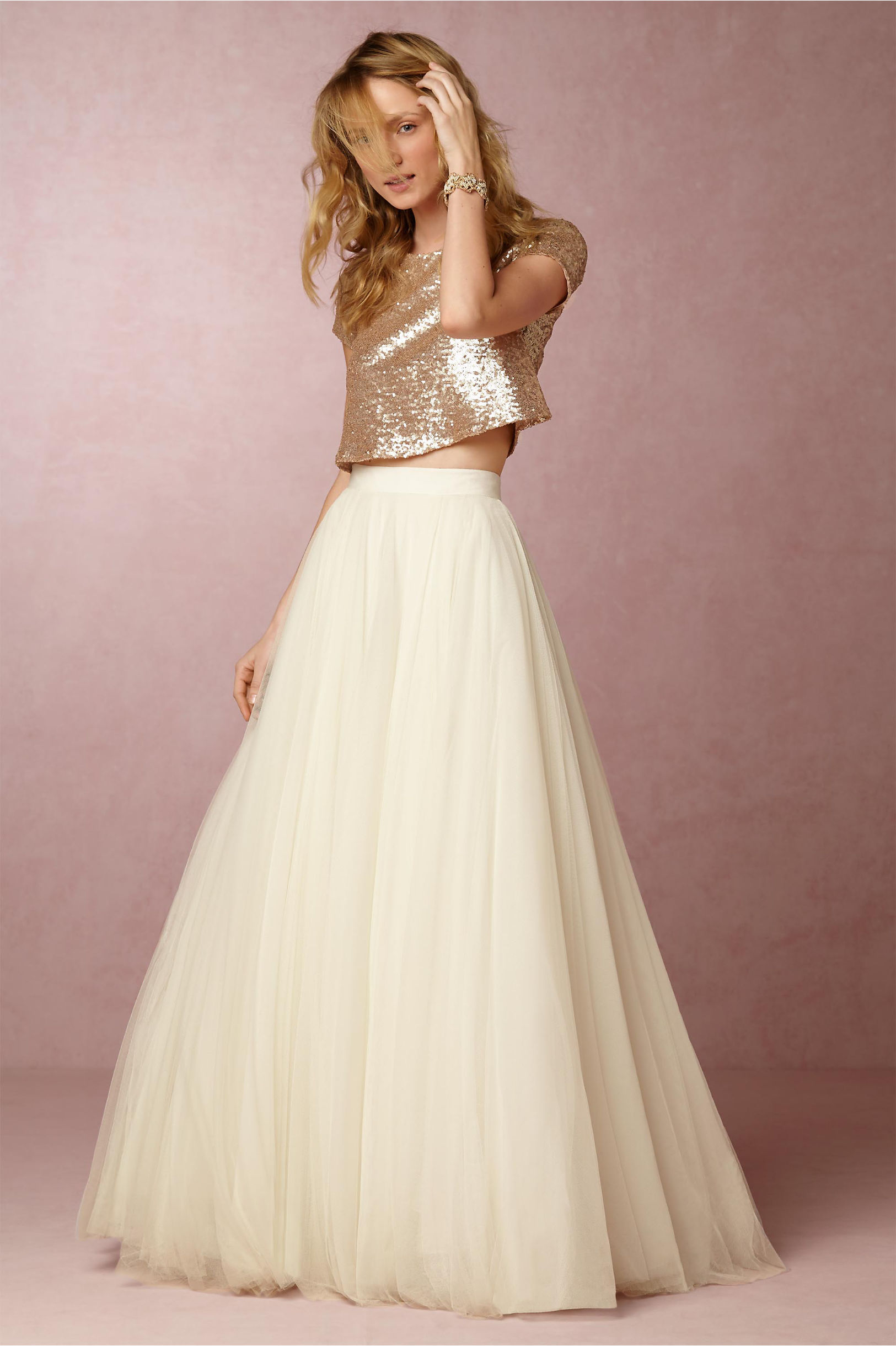 0ca2bd5dd73f Long Skirts With Crop Top For Wedding