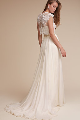 Wedding dress separates two piece bridal gowns bhldn for Wedding dress skirt and top
