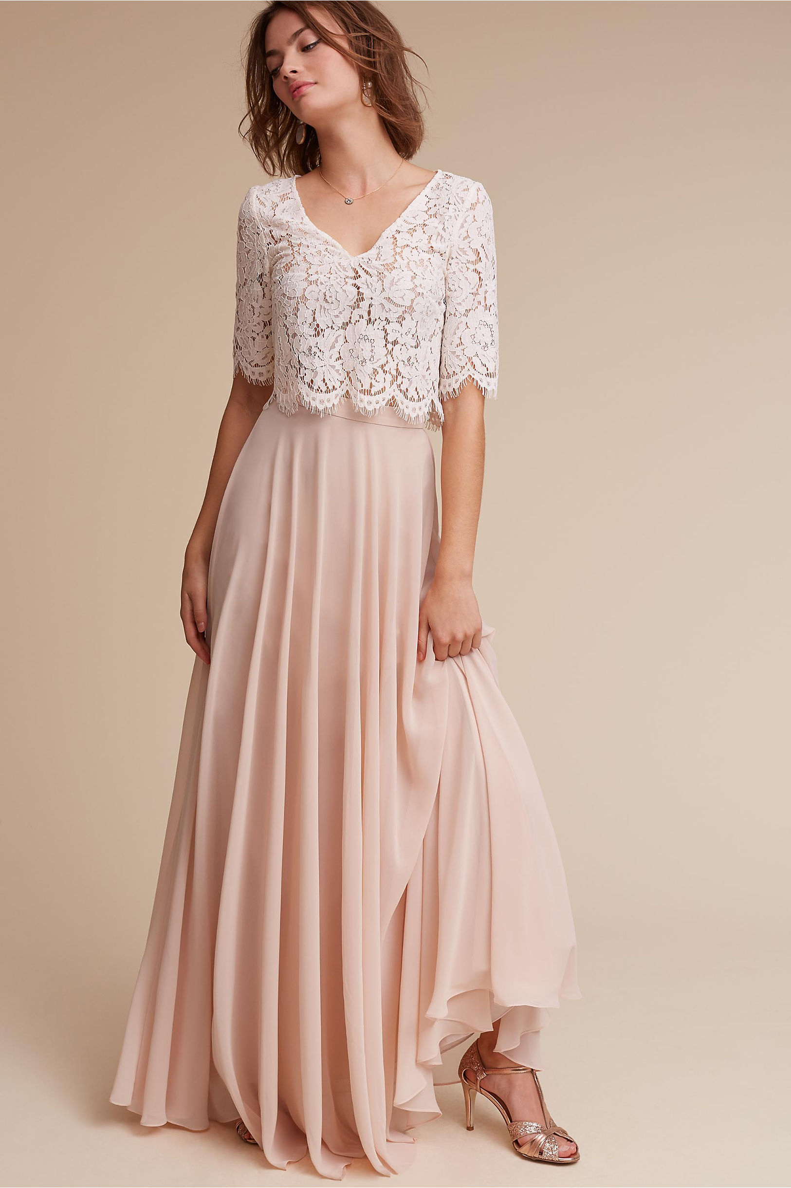 Lace bridesmaid dresses long short styles bhldn libby top hampton skirt ombrellifo Choice Image