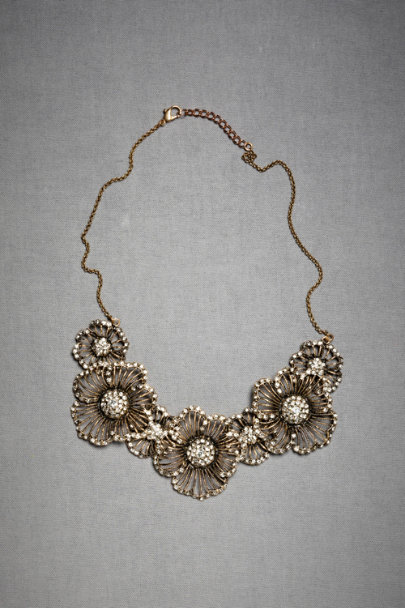 Azaara Antique Finish Hinted Phlox Necklace | BHLDN