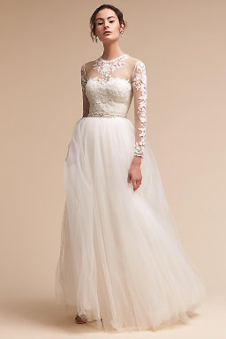 Vintage lace wedding dresses lace wedding gowns bhldn jessica bodysuit delphi skirt junglespirit Gallery