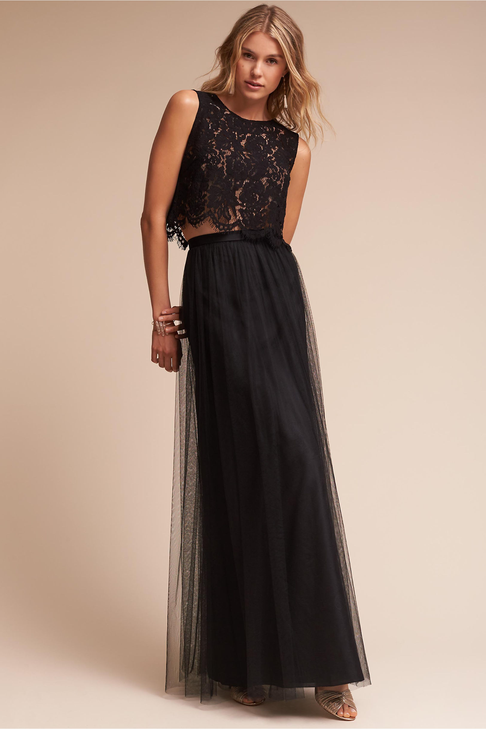 Boho bridesmaid dresses bhldn cleo top louise tulle skirt ombrellifo Image collections