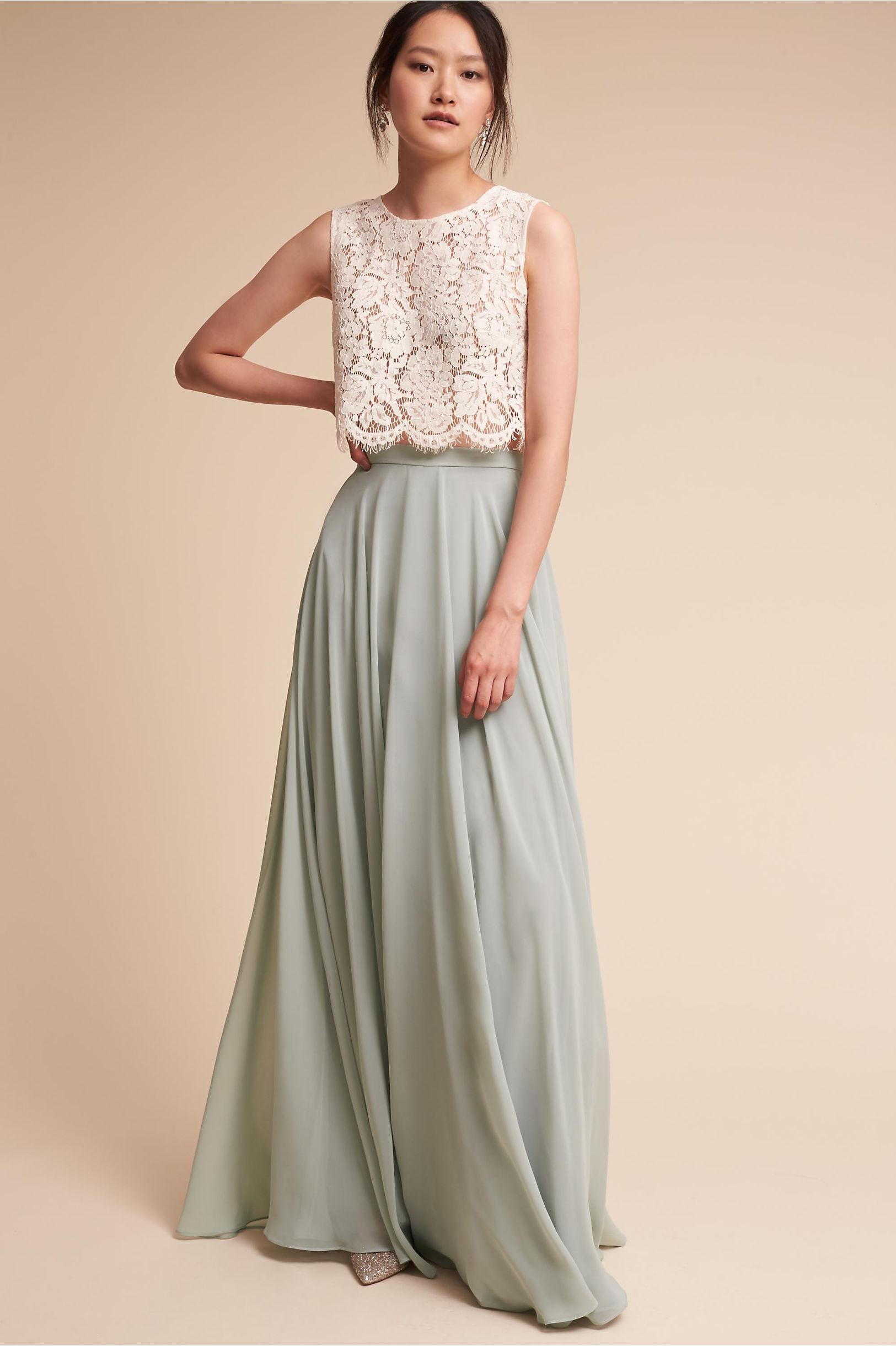 Lace bridesmaid dresses long short styles bhldn cleo top hampton skirt ombrellifo Images