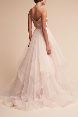 Wedding dress separates two piece bridal gowns bhldn laurel cami top effie skirt junglespirit Gallery