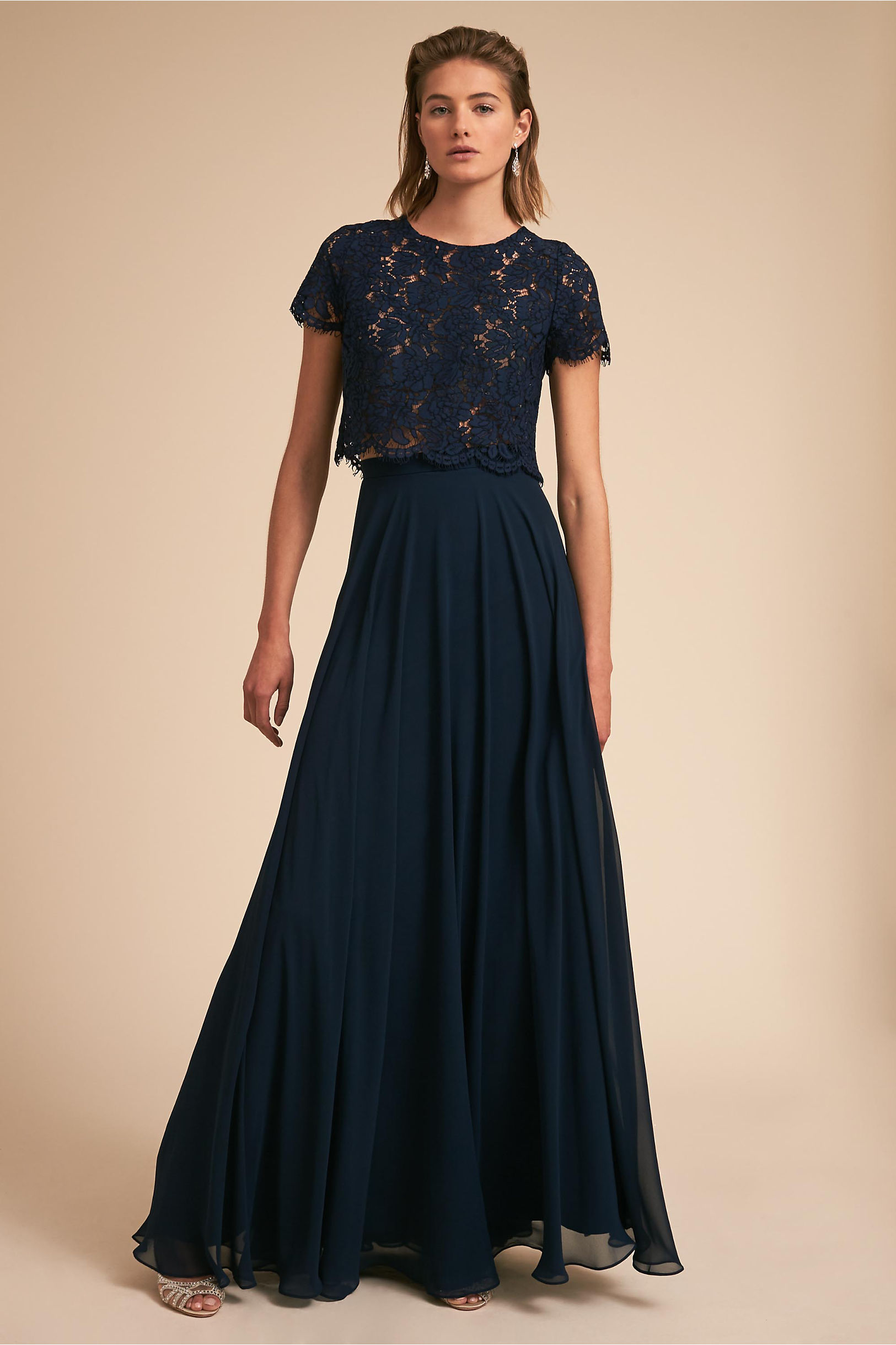 Two piece bridesmaid dresses separates bhldn kenzie top hampton skirt ombrellifo Images