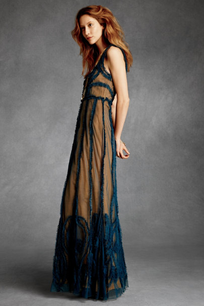 James Coviello Blue Indigo Mist Dress | BHLDN