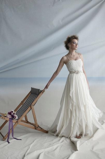 Cascading Goddess Gown in Bride | BHLDN