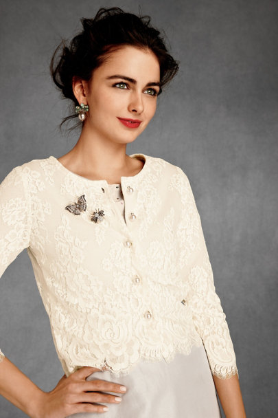 wendi reed, field flower Ivory Hambleton Cardigan | BHLDN