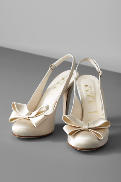 Ivory Bow-Topped Slingbacks | BHLDN