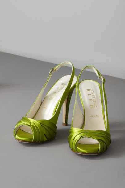 Something Bleu Celery Threshold Slingbacks | BHLDN