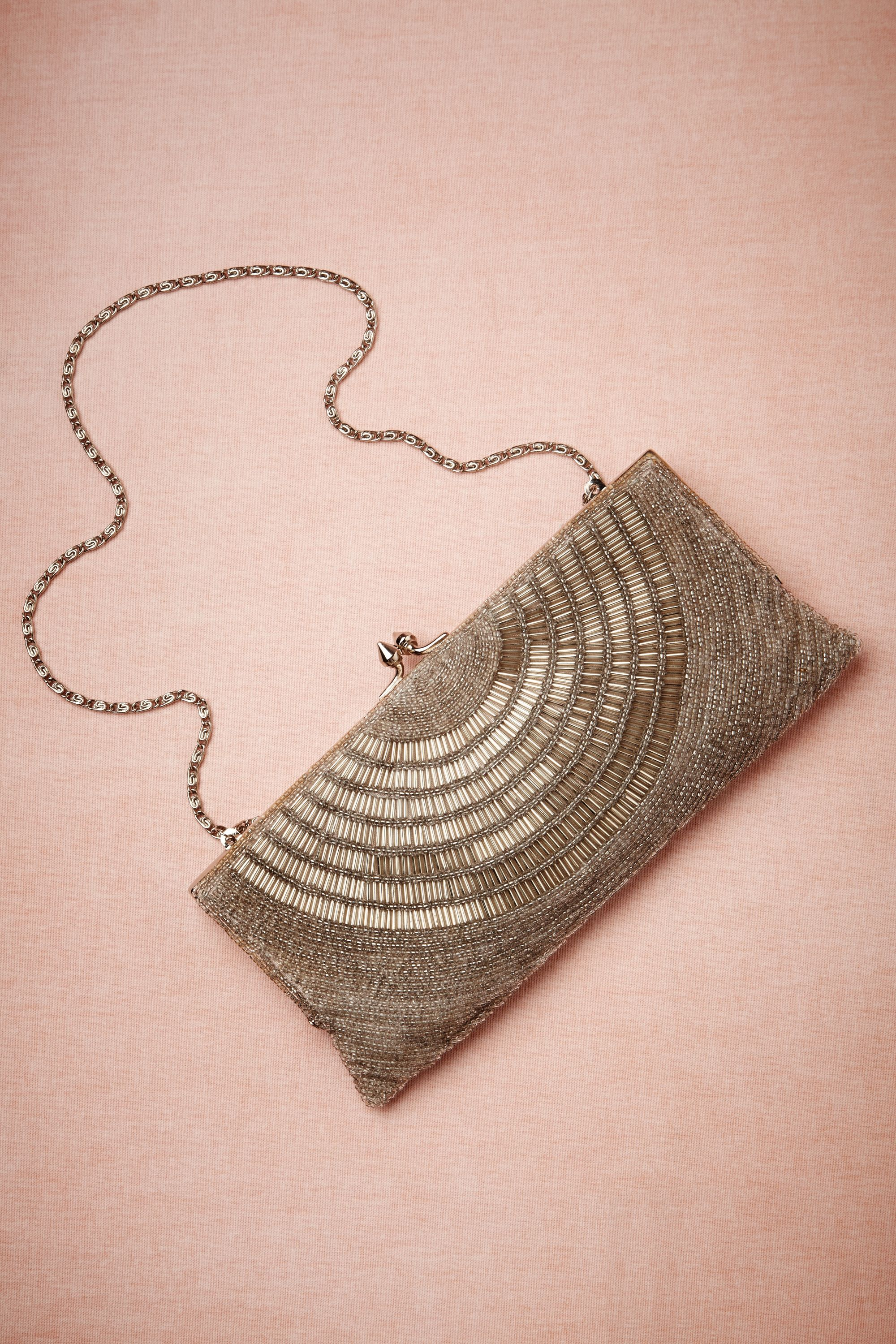 Deco Beaded Clutch