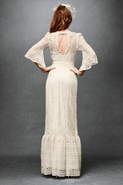 Tracy Reese Ivory Greenbow Lace Gown | BHLDN