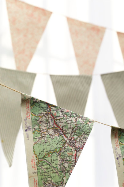 Ivory Parchment Pennant Garland (5) | BHLDN