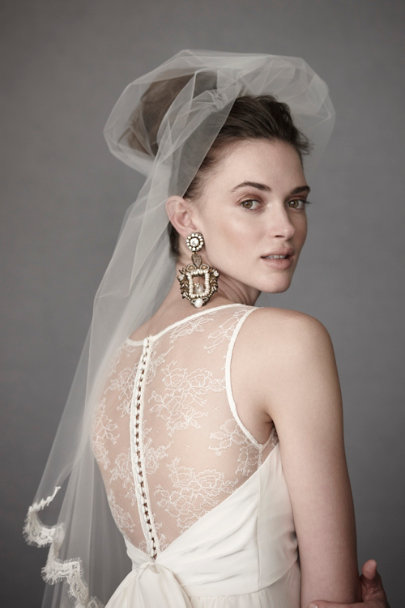 Ivory Panes of Lace Gown | BHLDN
