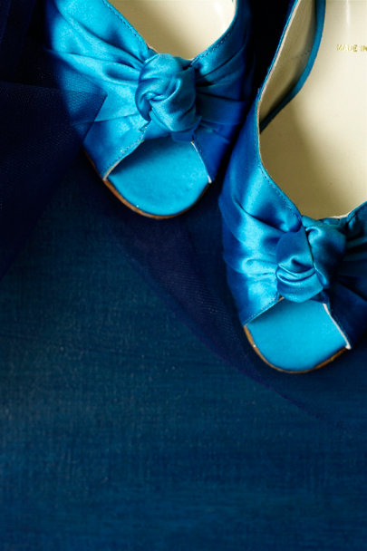 Something Bleu Sky Curtsey Kitten Heels | BHLDN