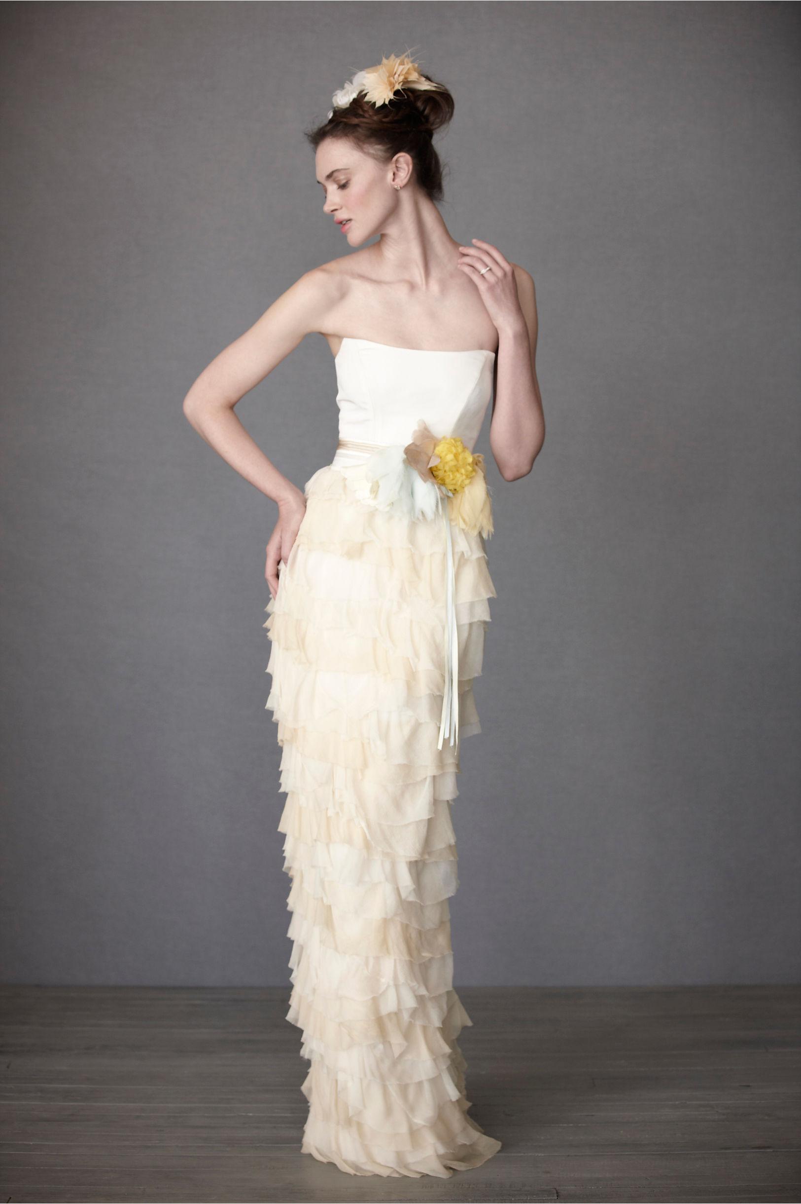 Mille Petals Corset Gown in Bride | BHLDN