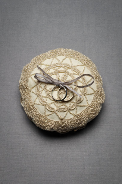 Vintage Ivory Heirloom Ring Pillow | BHLDN