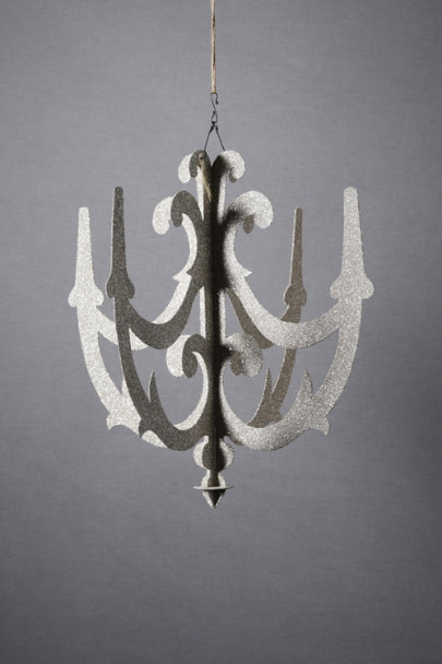 Silver Baroque Cut-Out Chandelier | BHLDN