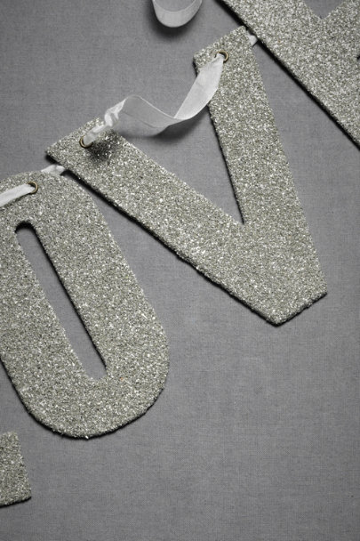 Wendy Addison Silver Glittered Notion Banner | BHLDN