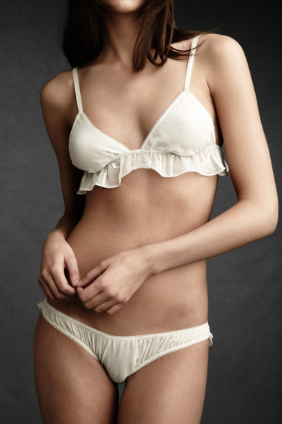 beautiful bottoms Ivory Flutter-By Bralette | BHLDN