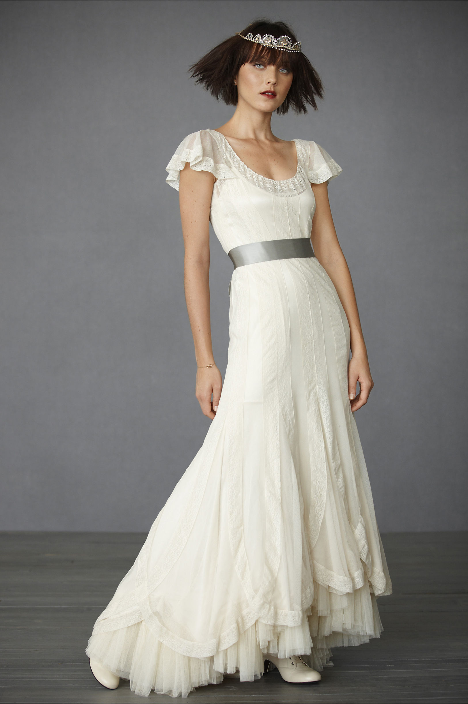 Cotton Tulle Wedding Dress