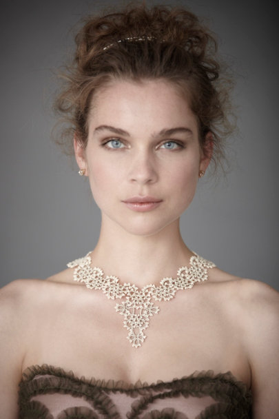 L'Orina Silver Queen Anne's Lace Necklace | BHLDN