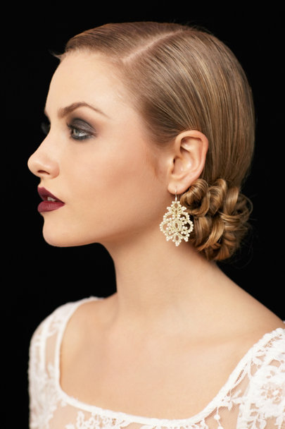 L'Orina Silver Queen Anne's Lace Earrings | BHLDN