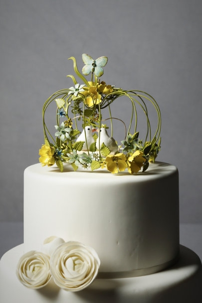 Debra Moreland Green Sweethearts Waltz Cake Topper | BHLDN