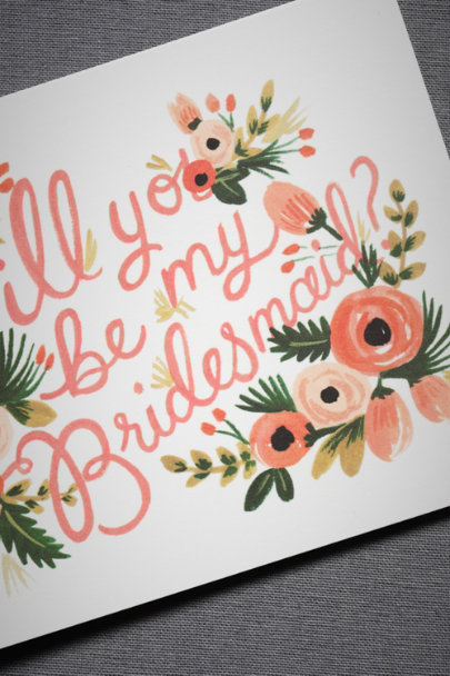 Rifle Paper Co. Bridesmaid Blooming Bridesmaid Card | BHLDN