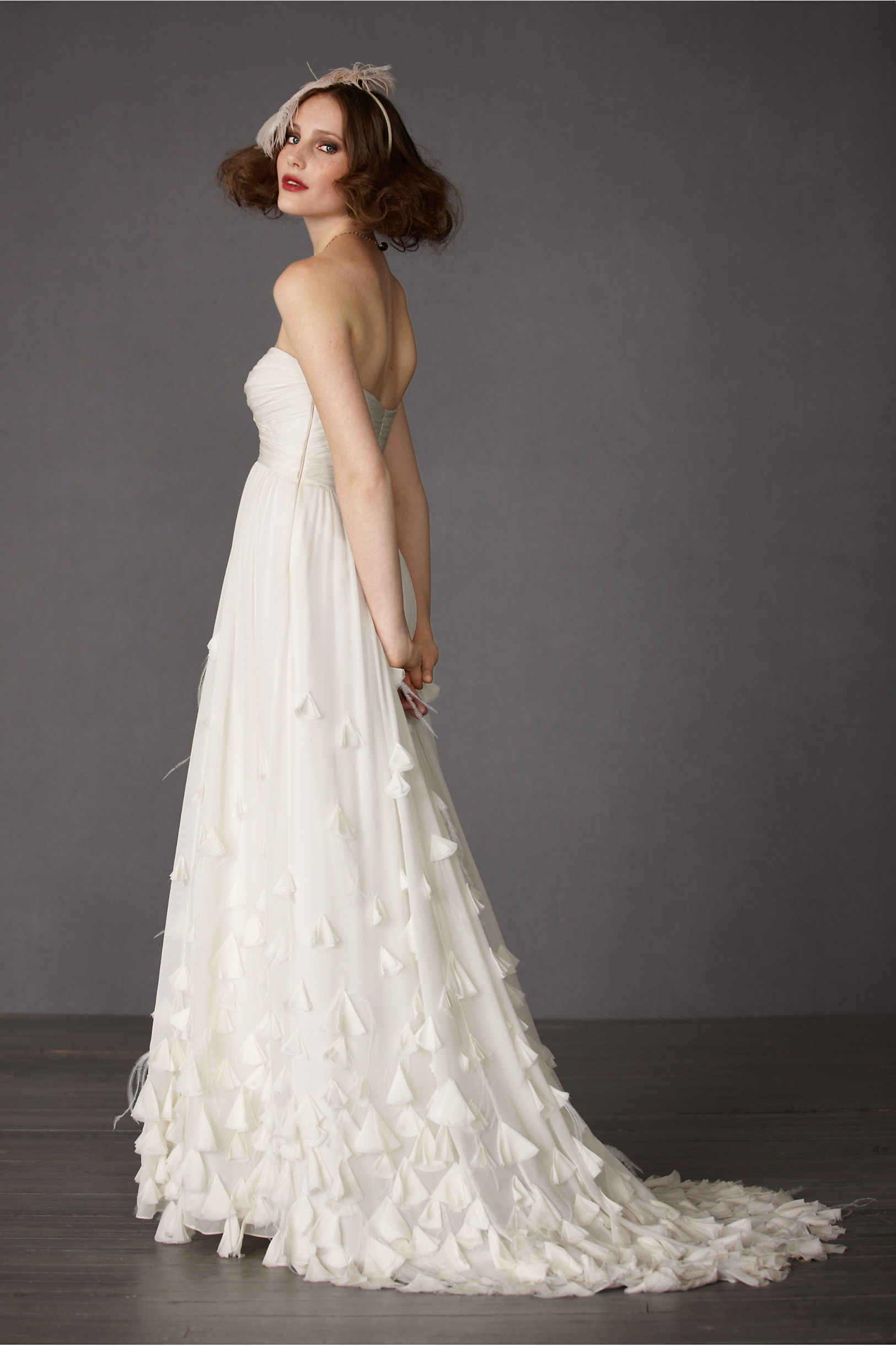 Ivory Windswept Gown Bhldn Queensland