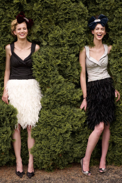 Ivory Frolicking Feathers Skirt | BHLDN