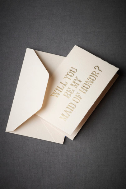 View larger image of Gilded Bridesmaid Card