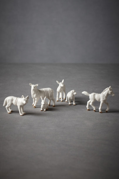 White Animalia Placeholders (6) | BHLDN