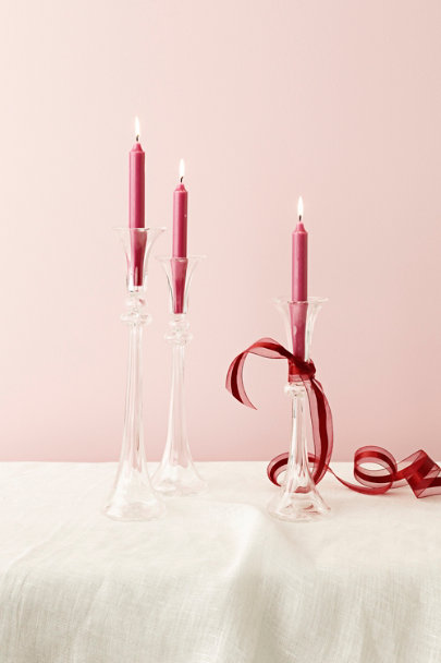 Clear Bent Light Candle Holders | BHLDN