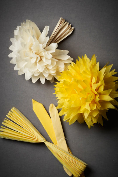 Yellow Motif Papered Poms (5) | BHLDN