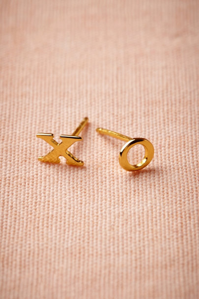 Gold XO Studs | BHLDN