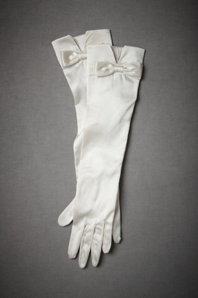 Ivory Fifty-Fifty Gloves | BHLDN
