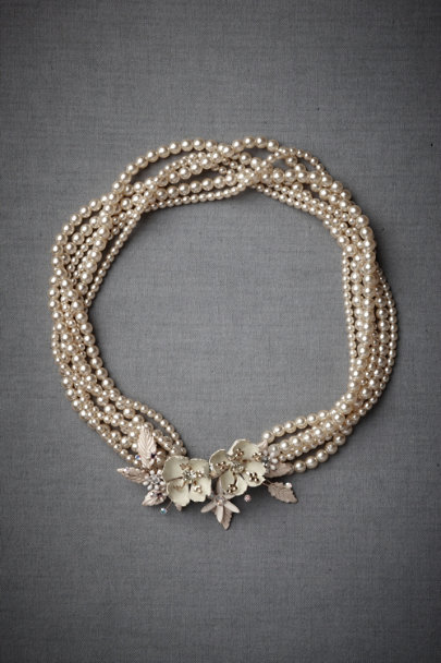 Paris by Debra Moreland Pearl Break-Of-Day Necklace | BHLDN