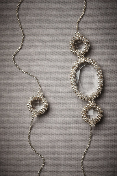 Silver Slipstream Necklace | BHLDN