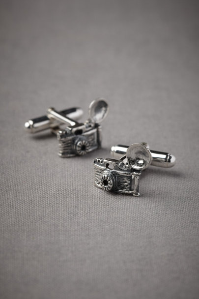 Silver Flashbulb Cufflinks | BHLDN