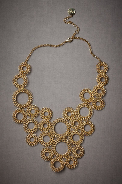 Gold Drip-Drop Necklace | BHLDN