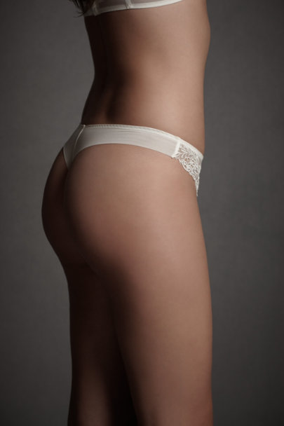 Ivory Ornamental Splendor Thong | BHLDN